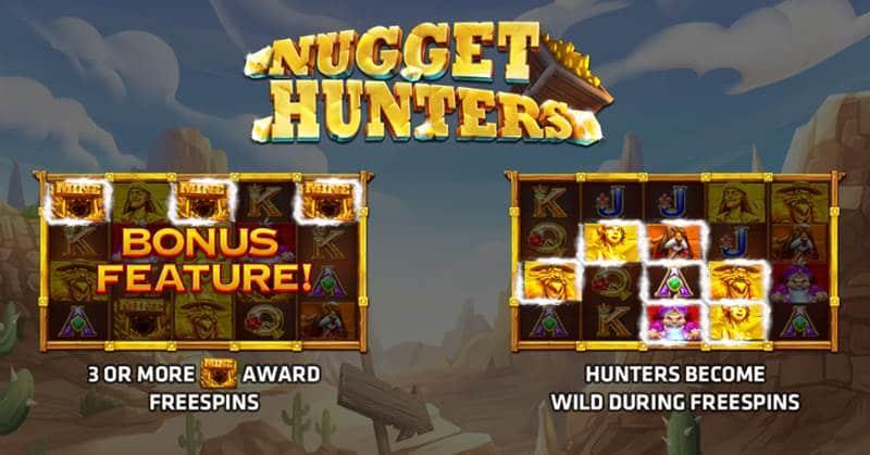 Nugget Hunters เล่นเกมส์สล็อตxo โจรล่าขุมทรัพย์หาเงินออนไลน์