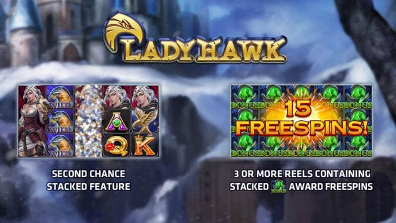 รีวิว Lady Hawk เกมสล็อตนักล่าสาว แจ็คพอตแตกง่าย ได้กำไรกระจาย