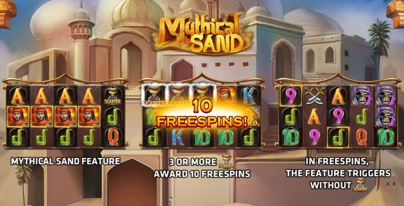 Mythical Sand เกมสล็อตออนไลน์ ตำนานดินแดนทะเลทราย