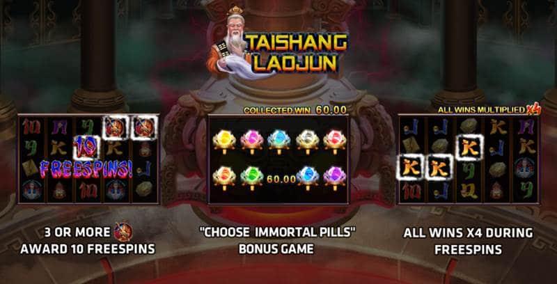 รีวิวเกมส์จีน Taishang Laojun สล็อตมือถือออนไลน์โดย SlotXO