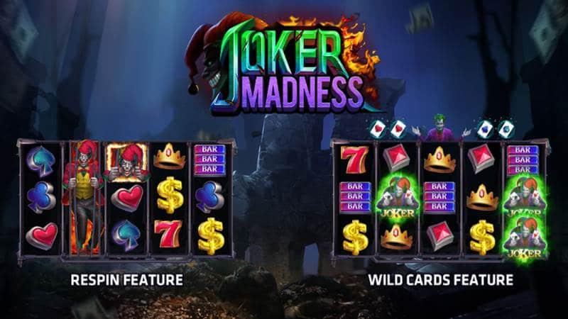 สล็อตโจ๊กเกอร์ Joker Madness เล่นเกมส์ slotxo แจ็คพอตแตกได้เงินสูง