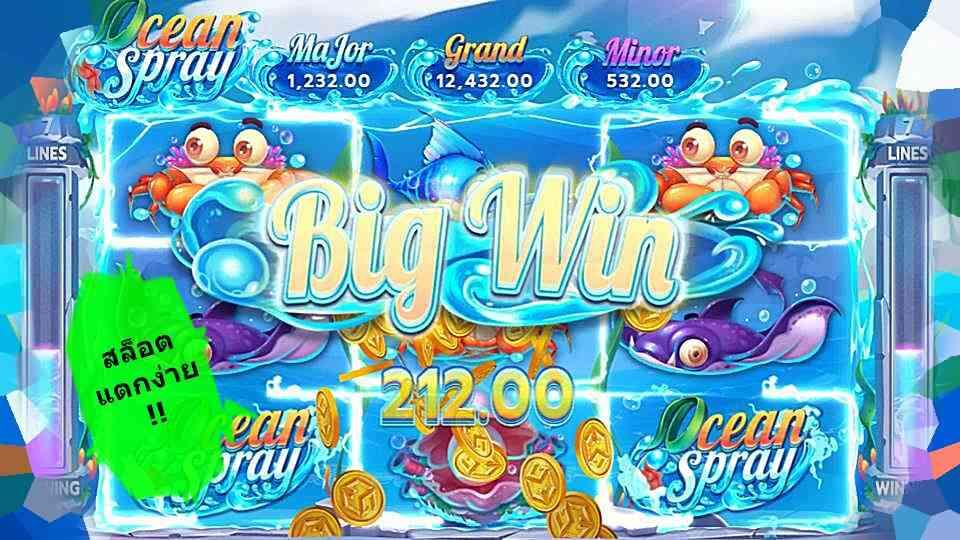 รีวิวเกมสล็อต Ocean Spray เล่นเกมกำไรสูง slotxo สล็อตแตกง่ายใต้ทะเลลึก