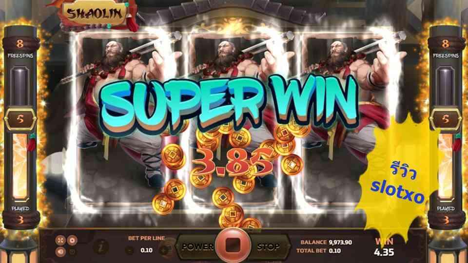 รีวิวสล็อตใหม่ Shaolin สมัคร slotxo เล่นเกมจีนหนังกำลังภายใน